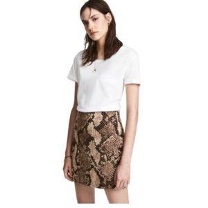H&M | Snakeskin Mini Skirt